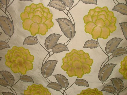 Amora Mimosa 100% Silk Curtain / Upholstery Fabric